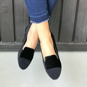 NIB Ryker Black Plush Suede Loafers